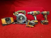 Ridgid 18v 4pc Combo Set - Hammerdrill / Impact / Circular Saw / Flashlight